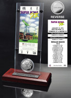 Super Bowl 12 Ticket & Game Coin Collection