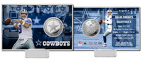 Tony Romo Silver Coin Card