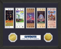 Dallas Cowboys  SB Championship Ticket Collection