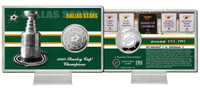 Dallas Stars Stanley Cup History Silver Coin Card