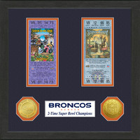 Denver Broncos SB Championship Ticket Collection