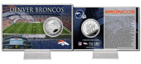 Denver Broncos Silver Coin Card