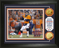 Peyton Manning 2013 NFL MVP Gold Coin Photo Mint
