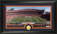 Denver Broncos Stadium Bronze Coin Panoramic Photo Mint