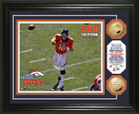Peyton Manning 500th Touchdown Pass Gold Coin Photo Mint