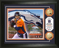 Peyton Manning Gold Coin Photo Mint