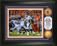 Peyton Manning 70,000 Career Passing Yards Gold Coin Photo Mint