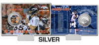 Peyton Manning 70,000 Career Passing Yards Silver Color Coin Card
