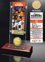 Peyton Manning Ticket & Bronze Coin Acrylic Desk Top