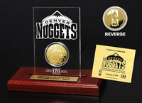 Denver Nuggets 24KT Gold Coin Etched Acrylic