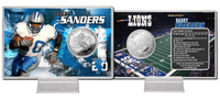 Barry Sanders Silver Coin Card