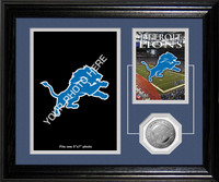 Detroit Lions Framed Memories Desktop Photo Mint