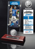 Matthew Stafford Ticket & Minted Coin Acrylic Desktop