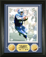 Barry Sanders Autographed Gold Coin Photomint