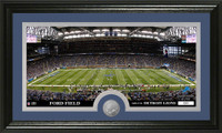 Detroit Lions Stadium Minted Coin Panoramic Photo Mint
