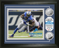 Calvin Johnson 10,000 Career Receiving Yards Silver Coin Photo Mint