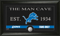 Detroit Lions Man Cave Bronze Coin Panoramic Photo Mint