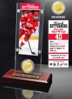 Henrik Zetterberg Ticket and Bronze Coin Desktop Acrylic