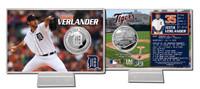 Justin Verlander Silver Coin Card