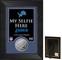 Detroit Lions Selfie Minted Coin Mini Mint
