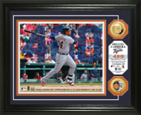 Miguel Cabrera 400th Home Run Gold Coin Photo Mint