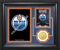Edmonton Oilers Fan Memories Bronze Coin Desktop Photo Mint