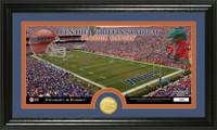 University of Florida Stadium Bronze Coin Panoramic Photo Mint