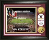 Florida State University Doak Campbell 24KT Gold Coin Photomint