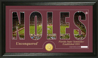 Florida State University Silhouette Bronze Coin Panoramic Photo Mint