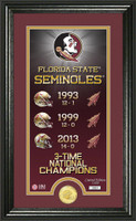 Florida State University Legacy Supreme Bronze Coin Panoramic Photo Mint
