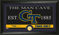 Georgia Tech University Man Cave Bronze Coin Panoramic Photo Mint