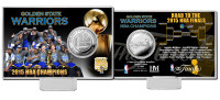 Golden State Warriors 2015 NBA Finals Champions Silver Coin Card