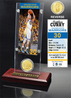 Stephen Curry Ticket & Bronze Coin Acrylic Desk Top LE