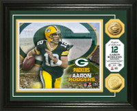 Aaron Rodgers Gold Coin Photo Mint