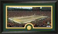 Green Bay Packers Stadium Bronze Coin Panoramic Photo Mint