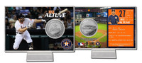 Jose Altuve Silver Coin Card