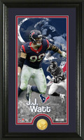 J.J. Watt Supreme Bronze Coin Panoramic Photo Mint
