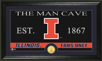 University of Illinois Man Cave Bronze Coin Panoramic Photo Mint