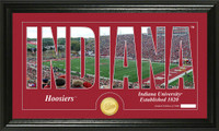 Indiana University Silhouette Bronze Coin Panoramic Photo Mint