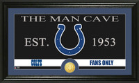 Indianapolis Colts The Man Cave Bronze Coin Panoramic Photo Mint