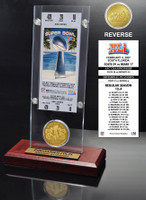 Super Bowl 41 Ticket & Game Coin Collection