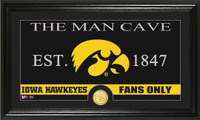 University of Iowa Man Cave Bronze Coin Panoramic Photo Mint