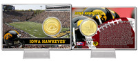 University of Iowa Bronze Coin Card