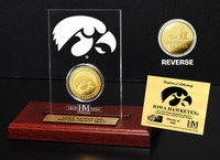 University of Iowa  24KT Gold Coin Etched Acrylic