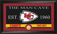 Kansas City Chiefs The Man Cave Bronze Coin Panoramic Photo Mint