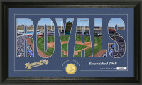 Kansas City Royals Silhouette Bronze Coin Panoramic Photo Mint