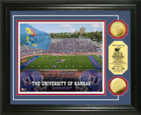 University of Kansas Kivisto Field 24KT Gold Coin Photomint
