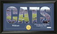 University of Kentucky Silhouette Bronze Coin Panoramic Photo Mint