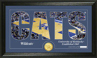 University of Kentucky Basketball Silhouette Bronze Coin Panoramic Photo Mint