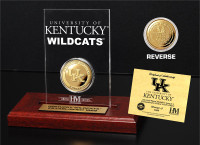 University of Kentucky 24KT Gold Coin Etched Acrylic